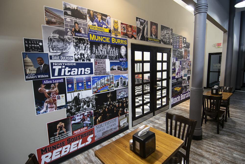 "The ""Sports Wall."" Photo by: Mike Rhodes"