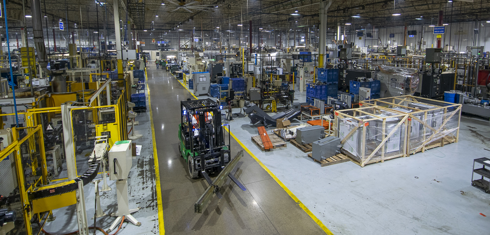 A partial view inside Magna Powertrain's 201,500 square foot facility. Photo by: Mike Rhodes