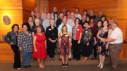 Group photo of attendees at Ball State's 3rd official Hurlbut Hall alumni reunion. Photo provided