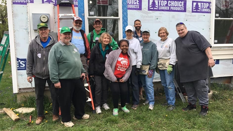 Greater Muncie, IN Habitat for Humanity was awarded $50,000 for the 2020 Housing Program. A similar grant in 2019 supported Habitat for Humanity as they served 28 families. Volunteers give their time to help construct homes like this one on Kirk St. Photo provided