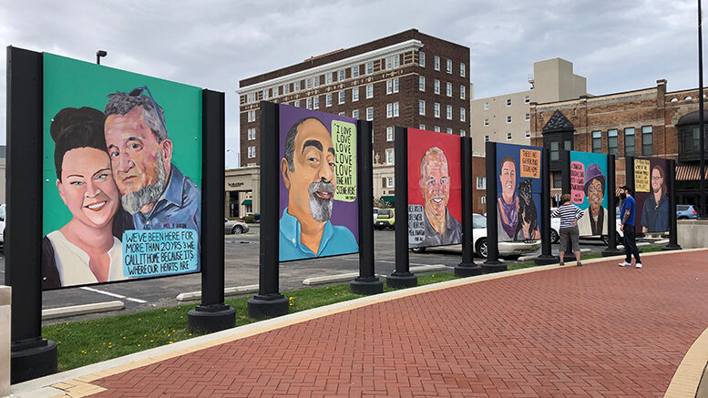 Face Me Por Favor collaboration with Downtown Muncie at Canan Commons in 2019. Photo provided