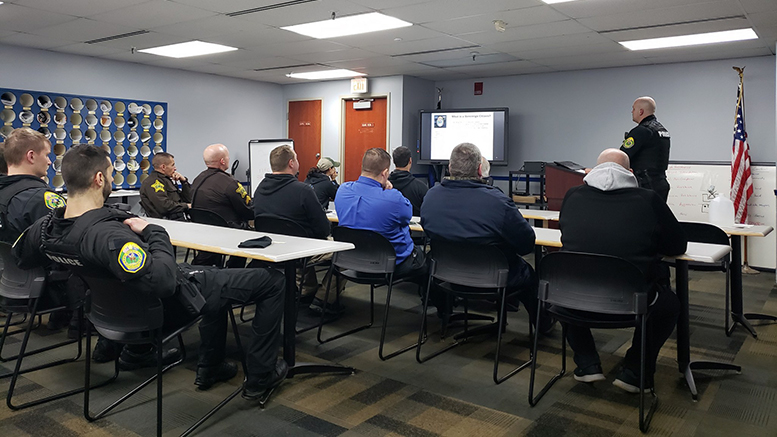 "MPD officers are pictured during a recent ""Sovereign Citizens"" training session. Photo courtesy of MPD"