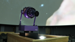 The projector inside the Charles W. Brown Planetarium. Photo provided