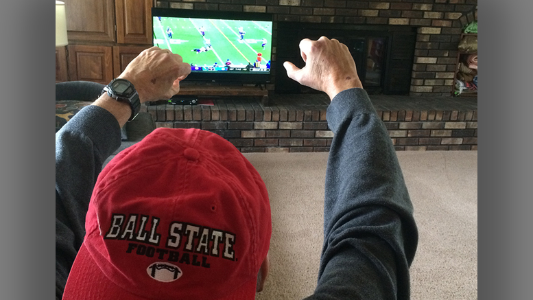 Football games on television can spur the lowest lows and highest highs. Photo by Nancy Carlson