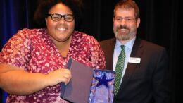 Asia Wyatt was awarded the 2019 Patrick C. Botts Youth of the Year award at the 2020 Great Futures Dinner.